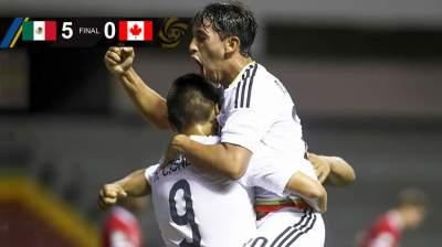 El Tri Sub 20 golea a Canadá y pasa a siguiente ronda de Premundial