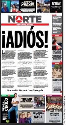 Cierra diario de Juárez por inseguridad