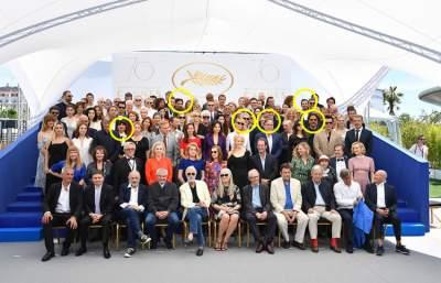 Seis destacados mexicanos posan para la foto del recuerdo en Cannes