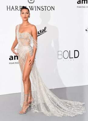 Bella Hadid deslumbra en la gala amfAR en Cannes