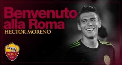 Héctor Moreno ya es nuevo jugador de la Roma