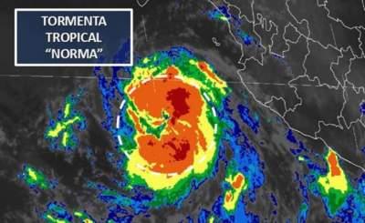 """Tormenta """"Norma"""" avanza hacia Baja California Sur"""