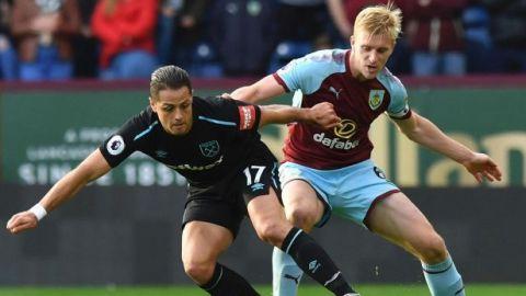 West Ham y ''Chicharito'' empatan con el Burnley