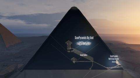 Descubren un impresionante espacio oculto en la Gran Pirámide de Giza
