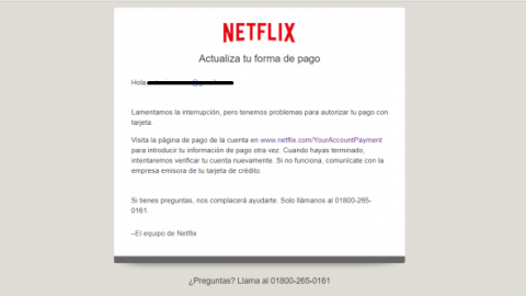 Circula correo falso de Netflix que puede estafarte