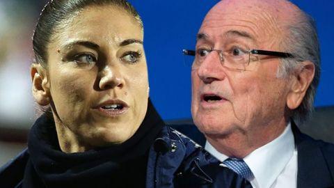 Blatter no fue la única 'molestia' para Hope Solo