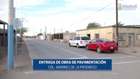 Entregan obra de pavimentación en Mexicali