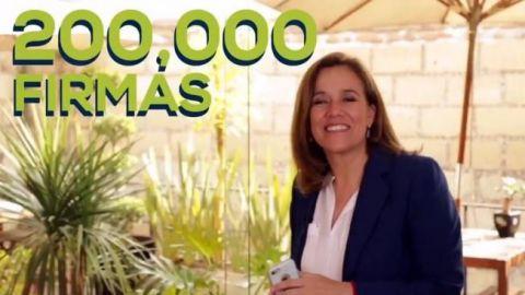Margarita Zavala reúne 200 mil firmas para candidatura independiente
