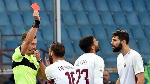 Con 'ayuda' del VAR, Génova empató ante la Roma con Moreno en la banca