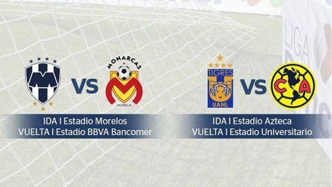 Quedaron definidos los horarios de las semis de la Liga MX