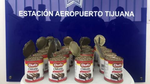 Aseguran droga en aeropuerto de Tijuana
