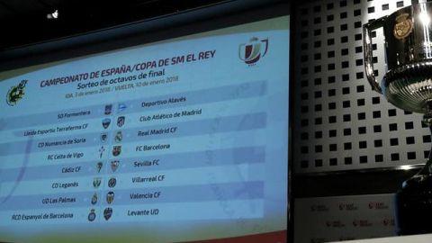 Listos los octavos de la Copa del Rey; Barça-Celta y Madrid-Numancia