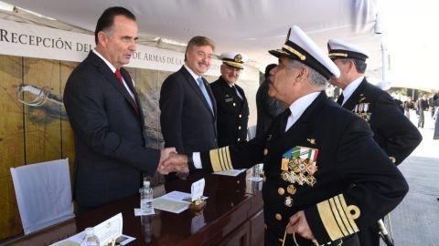 Atestigua Marco Novelo cambio de comandante de la Segunda Región Naval