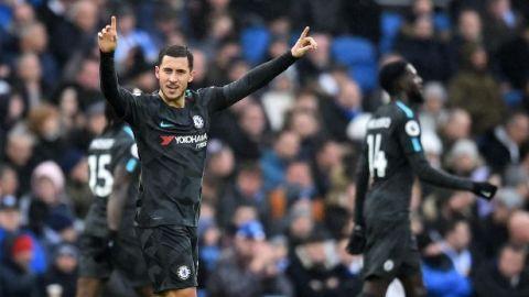 Chelsea golea al Brighton con un doblete de Hazard