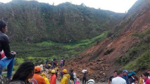 Al menos 13 personas muertas en alud de tierra en el suroeste de Colombia