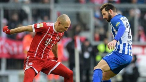 El Hertha pone el alto a racha ganadora del Bayern
