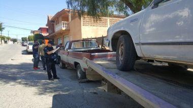 SSPM retira de las calles autos abandonados y siniestrados