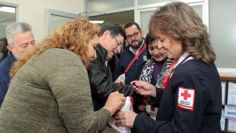 Personal del XXII Ayuntamiento de Tijuana apoya Colecta de Cruz Roja