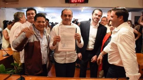 Cuauhtémoc Blanco se registra como candidato a la gubernatura