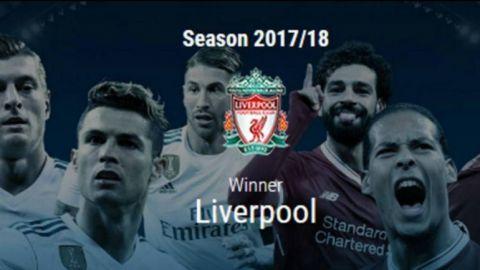 Por error, la UEFA da título de la Champions al Liverpool