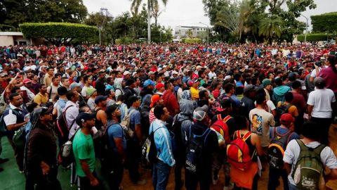 SRE inicia atención a migrantes de Caravana hondureña