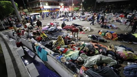 Reportan más de 14 mil hondureños en caravana migrante