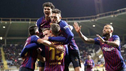 Lenglet salva a un mediocre Barcelona