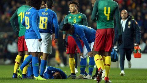 Neymar sale lesionado en amistoso de Brasil