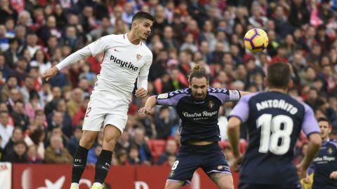 Sevilla roba la cima de LaLiga tras victoria sobre Valladolid