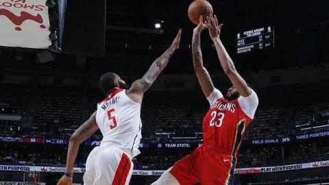 Davis y Holiday llevan a Pelicans a triunfo sobre Wizards