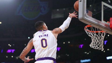 Kuzma guía a Lakers en apabullante triunfo sobre Suns