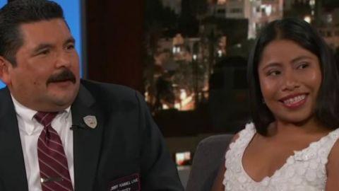 Yalitza Aparicio cautiva en show de Jimmy Kimmel