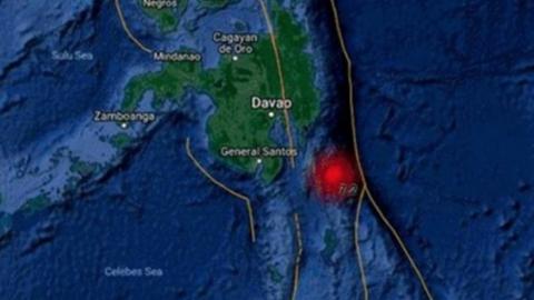 Sismo de magnitud 6.9 golpea sur de Filipinas
