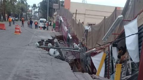 Socavón en mega proyecto de Mexicali