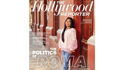 Yalitza Aparicio engalana portada de revista The Hollywood Reporter