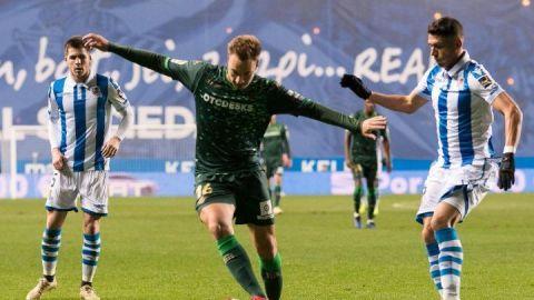 Con Lainez en la banca, Betis elimina a Real Sociedad de la Copa