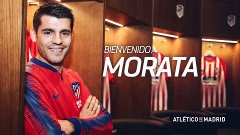 El Atlético anuncia la cesión por año y medio de Morata