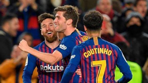 Barcelona golea al Sevilla y va a Semis de Copa del Rey