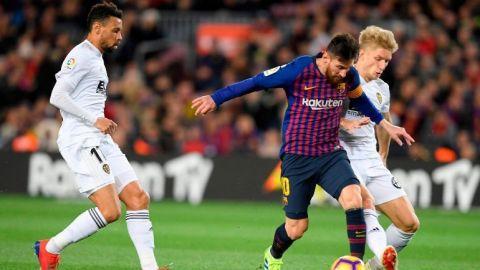 Valencia corta racha de ocho victorias seguidas del Barcelona