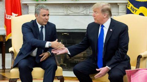 Trump insinúa ante Duque que Colombia va atrasada en erradicación de coca