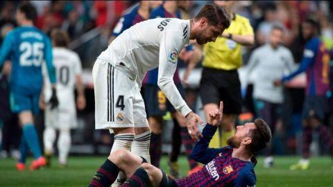 """""""Son cosas que se quedan en el campo"""", dice Ramos sobre golpe a Messi"""