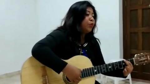 Edith, la hermana de Yalitza Aparicio, expone su talento musical