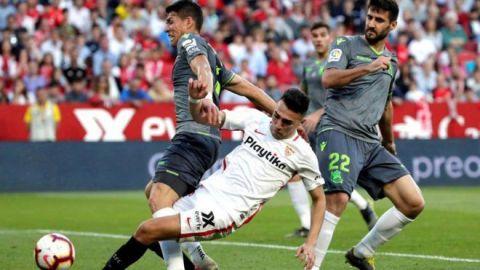 Sevilla golea a la Real Sociedad con Moreno como titular