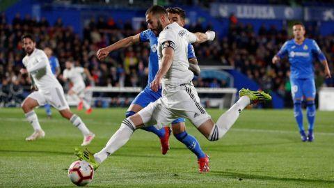 Getafe frena la racha de Benzema y se mantiene en 'Champions' (0-0)