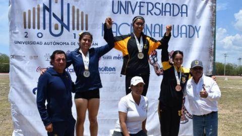 Maritza Carreón repite oro en Universiada Nacional
