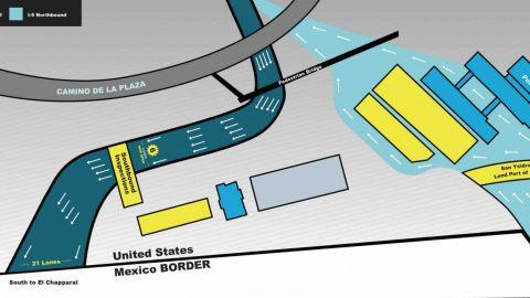 Autoridades de EU aperturan dos nuevos carriles de ingreso a Tijuana