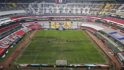 Estadio Azteca regresa a pasto natural