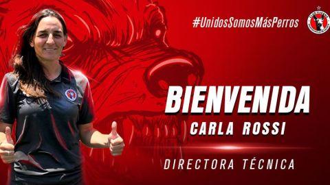 Carla Rossi, DT del equipo femenil de Xoloitzcuintles