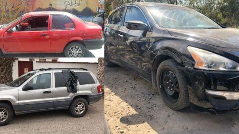 Policía Municipal recupera tres autos robados