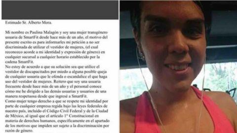 Mujer transgénero denuncia discriminación en gimnasio de Smart Fit